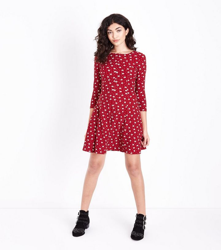 16c5d9a1622 ... Red Ditsy Floral Soft Touch Skater Dress. ×. ×. ×. Shop the look