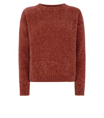 Rust Chenille Jumper New Look