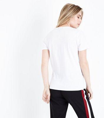 White New York Print T-Shirt New Look