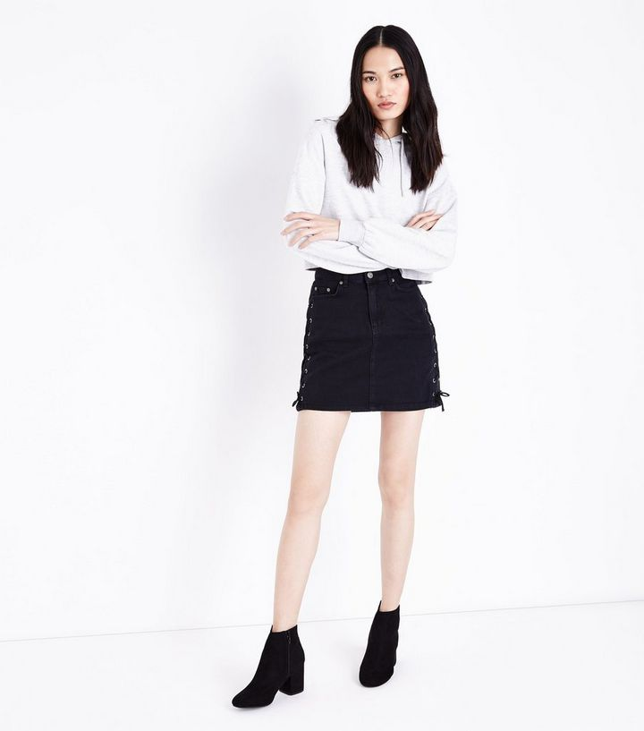 881331a945 ... Black Lace Up Side Denim Skirt. ×. ×. ×. Shop the look