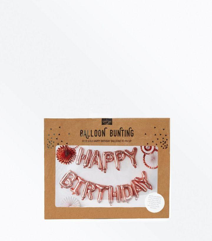 Ginger Ray Rose Gold Happy Birthday Balloon Bunting