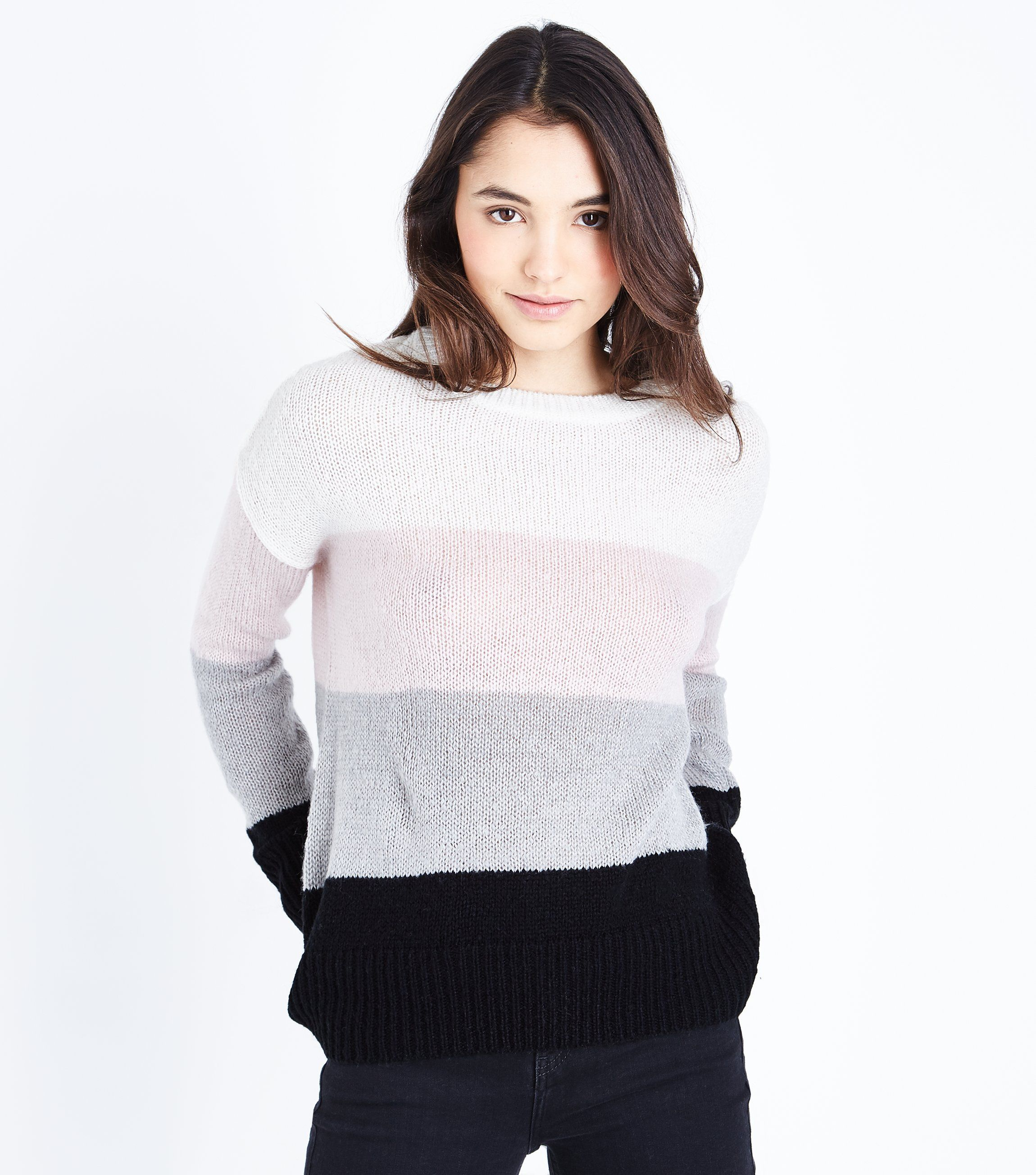 Multi Coloured Colour Block Jumper