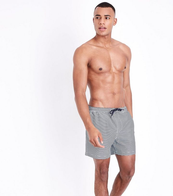25555d7869904 Pale Blue Stripe Swim Shorts | New Look