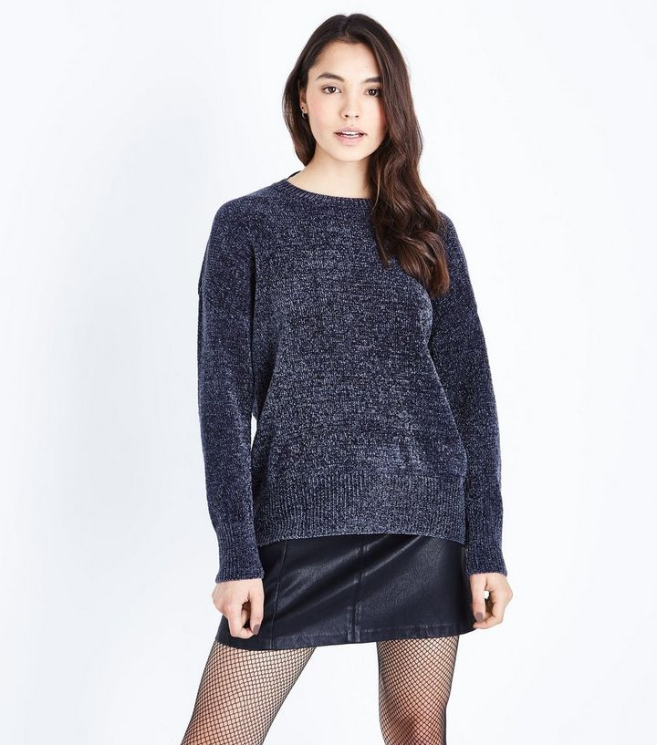 attractive style good quality choose newest Dark Grey Chenille Oversized Jumper Add to Saved Items Remove from Saved  Items