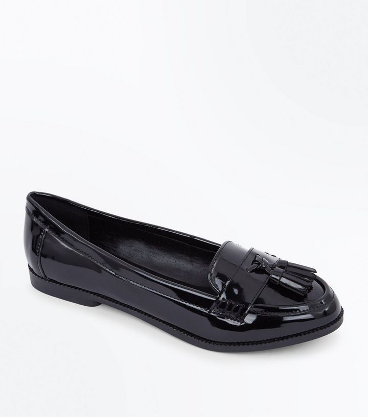 price Sales promotion skate shoes Wide Fit Black Patent Tassel Loafers Add to Saved Items Remove from Saved  Items