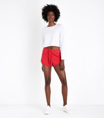 Red Jersey Runner Shorts