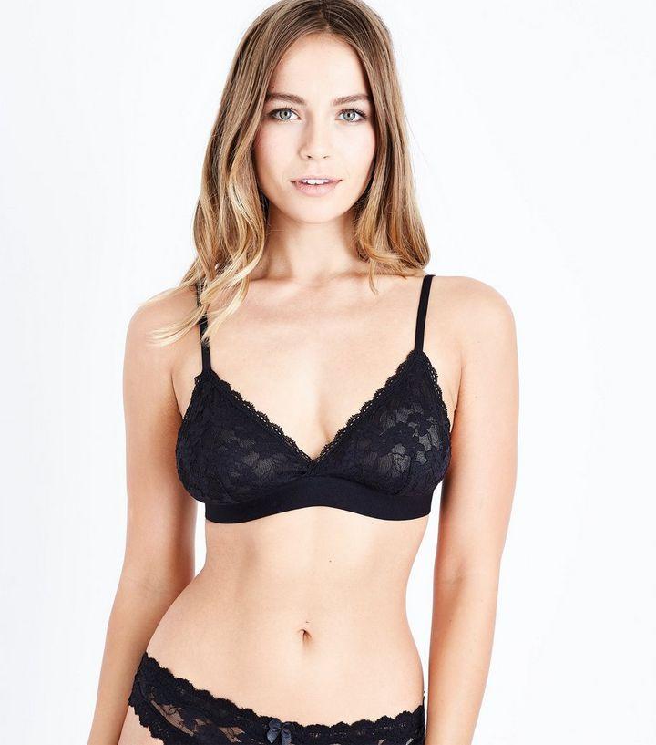 e4992f98f6c81 Black Lace Bralette | New Look