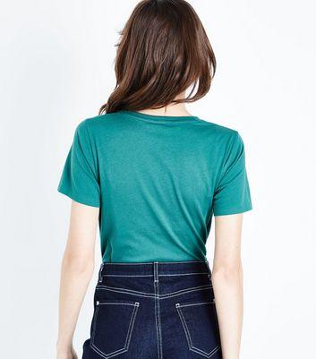 Green Jolie Print T-Shirt New Look