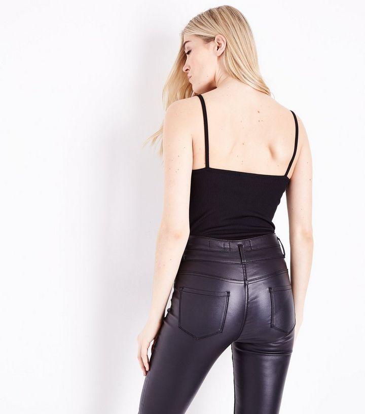 Home · Black Ribbed Lattice Front Bodysuit. ×. ×. ×. Shop the look 03b5651dc