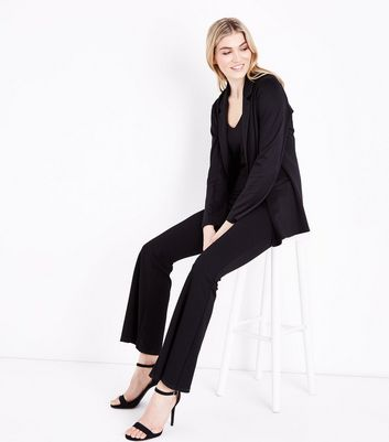 Tall Black Button Front Blazer New Look