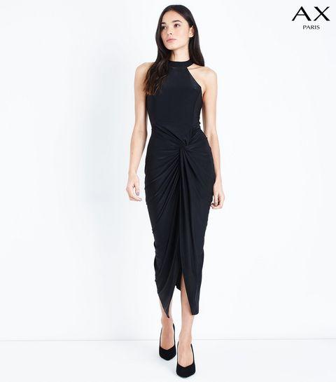 440ca179e9c ... AX Paris Ruched Twist Front Midi Dress ...