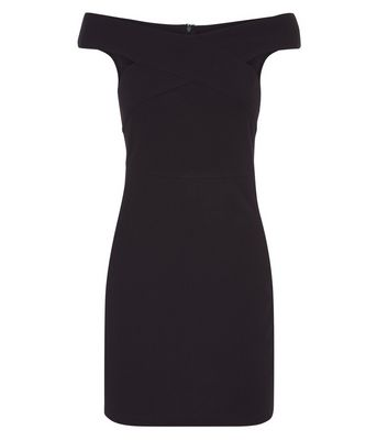 AX Paris Black Cross Front Bodycon Dress New Look