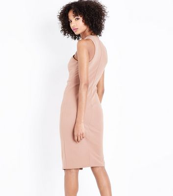 AX Paris Mink Cross Front Midi Dress New Look