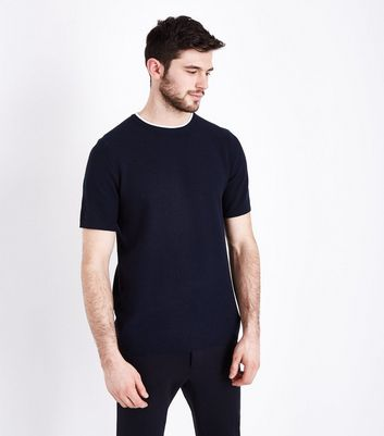 Navy Knit T-Shirt
