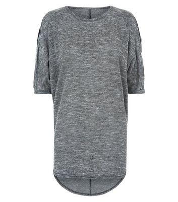Apricot Grey Zip Shoulder Tunic Top New Look
