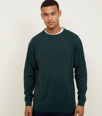 Green Cuffed Long Sleeve T-Shirt