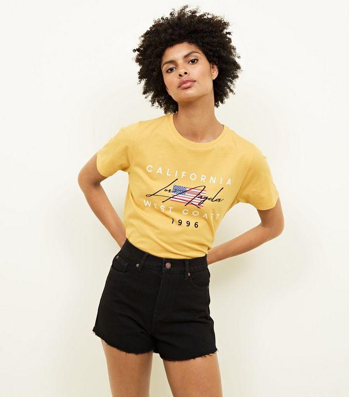 607553e8e5 Tall Black Frayed Hem Denim Mom Shorts | New Look