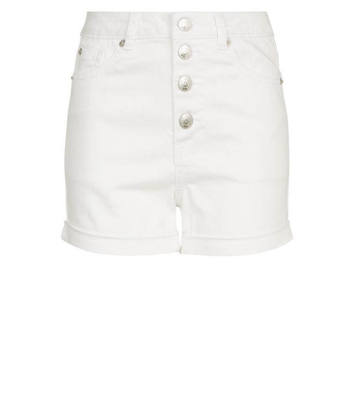 8b9105793 ... Girls White Button Front Denim Shorts. ×. ×. ×. Shop the look