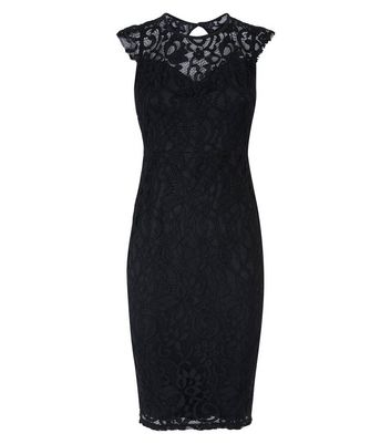 AX Paris Black Lace Sleeveless Midi Dress New Look