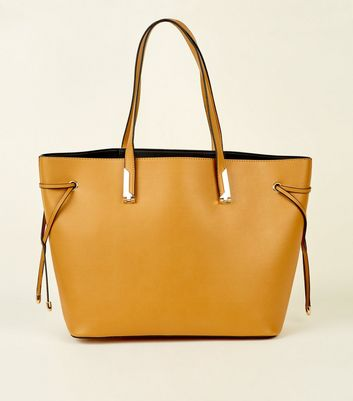 Mustard Tie Side Tote Bag