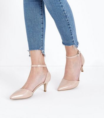 Nude Comfort Flex Patent Ankle Strap Courts New Look