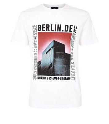 White Berlin Slogan Graphic T-Shirt New Look
