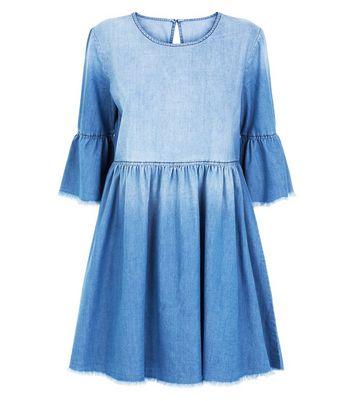 JDY Bright Blue Denim Smock Dress New Look