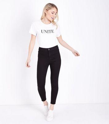 Petite Black High Waist Super Skinny Jeans New Look