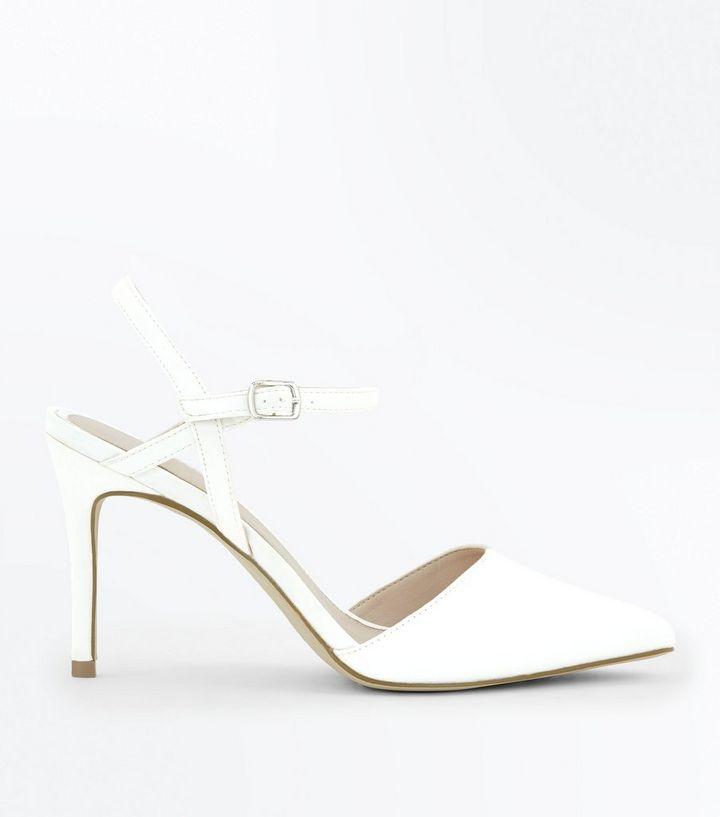 c163f26b1b8 Off White Satin Pointed Wedding Shoes