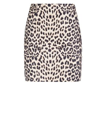 Cameo Rose Brown Leopard Print Mini Skirt New Look
