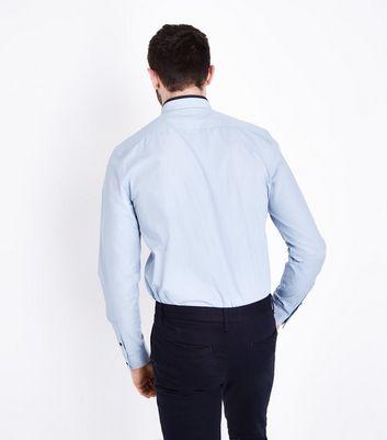 Pale Blue Double Collar Poplin Shirt New Look