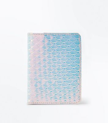 Pink Holographic Passport Holder