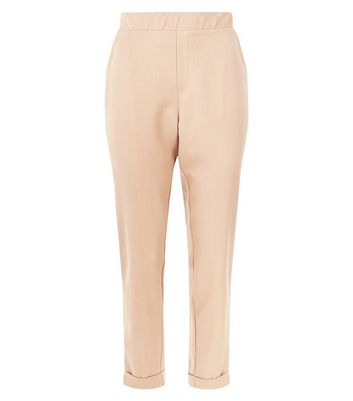 Camel Side Stripe Tapered Trousers New Look