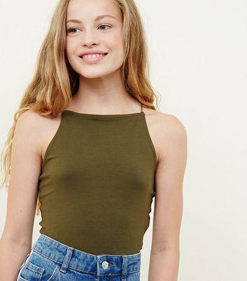 The expert, Cute pale teens in tanktops consider