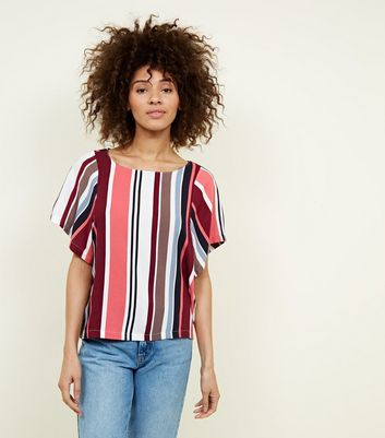 JDY Multicoloured Stripe Woven T-Shirt