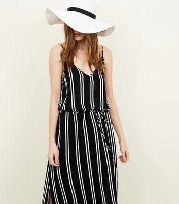 JDY Black Stripe Maxi Dress New Look