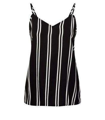 JDY Black Stripe Woven Vest New Look