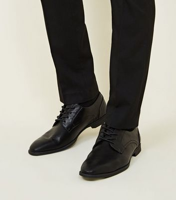 Black Leather-Look Formal Shoes | New Look