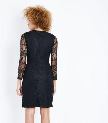 Blue Vanilla Black Lace Embellished Sequin Dress New Look