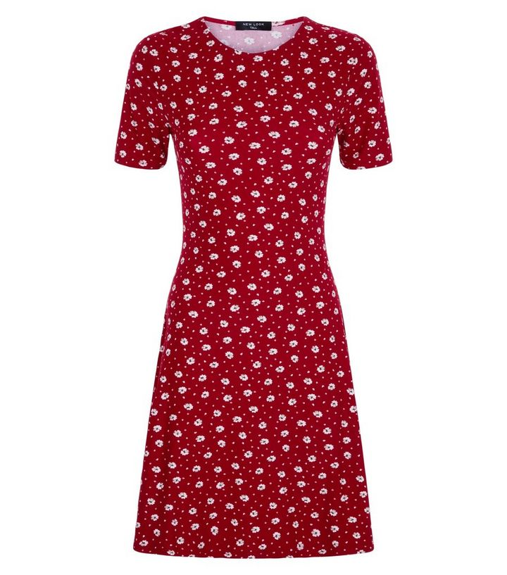 1cdd320ceeb ... Tall Red Ditsy Floral Soft Touch Skater Dress. ×. ×. ×. Shop the look