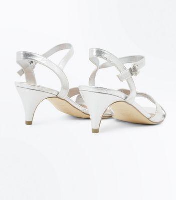 Wide Fit Silver Kitten Heel Wedding