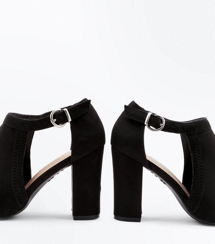 59f419b8c7 ... Black Comfort Flex Cut Out Peep Toe Heels. ×. ×. ×. Shop the look