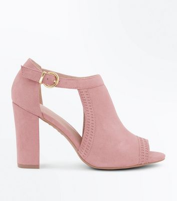 Pink Comfort Flex Cut Out Peep Toe Heels