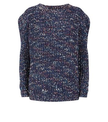Apricot Navy Multicoloured Chunky Knit Jumper New Look