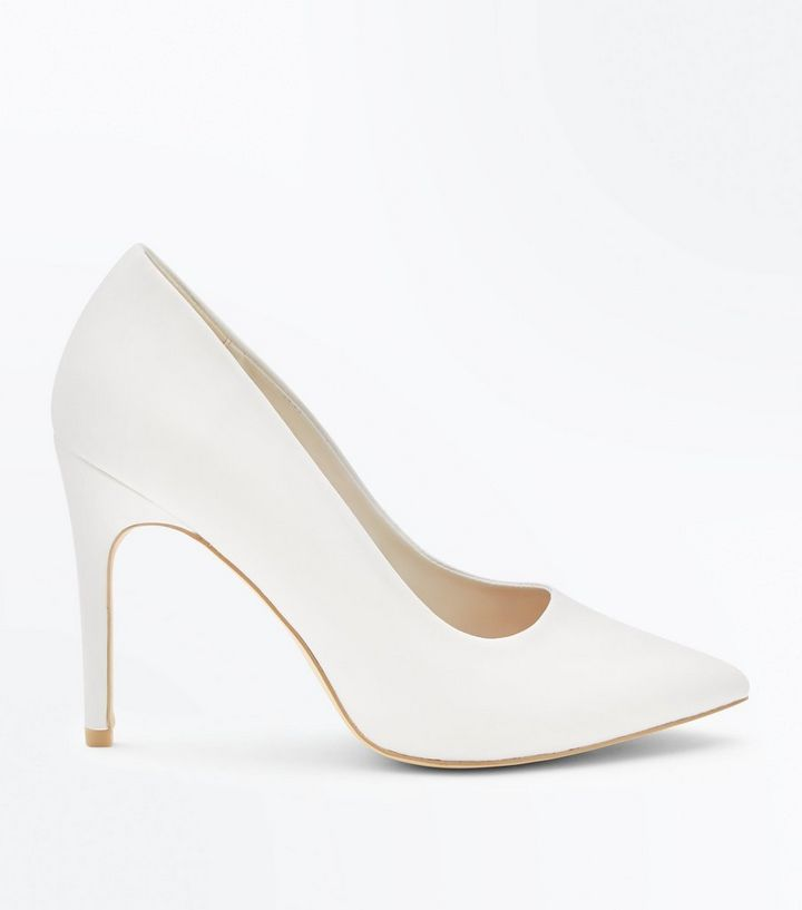603288f676ee Wide Fit White Pointed Court Shoes