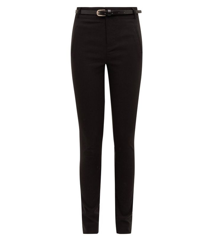d0fc2750db ... Girls Black Belted Slim Leg Trousers. ×. ×. ×. Shop the look
