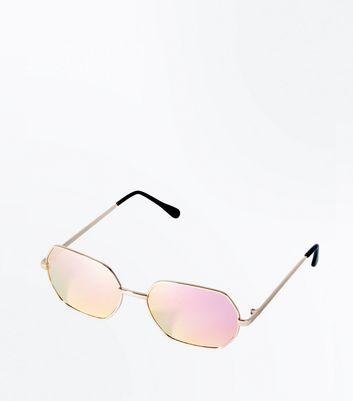 Women 39 s sunglasses round aviator sunglasses new look for Miroir rose gold