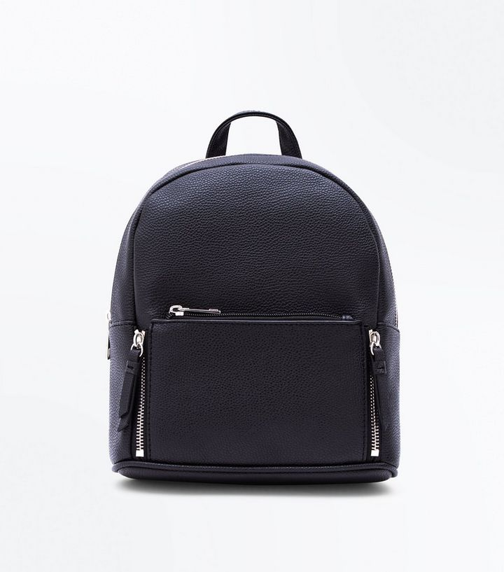 d494574071 Black Zip Top Curved Mini Backpack