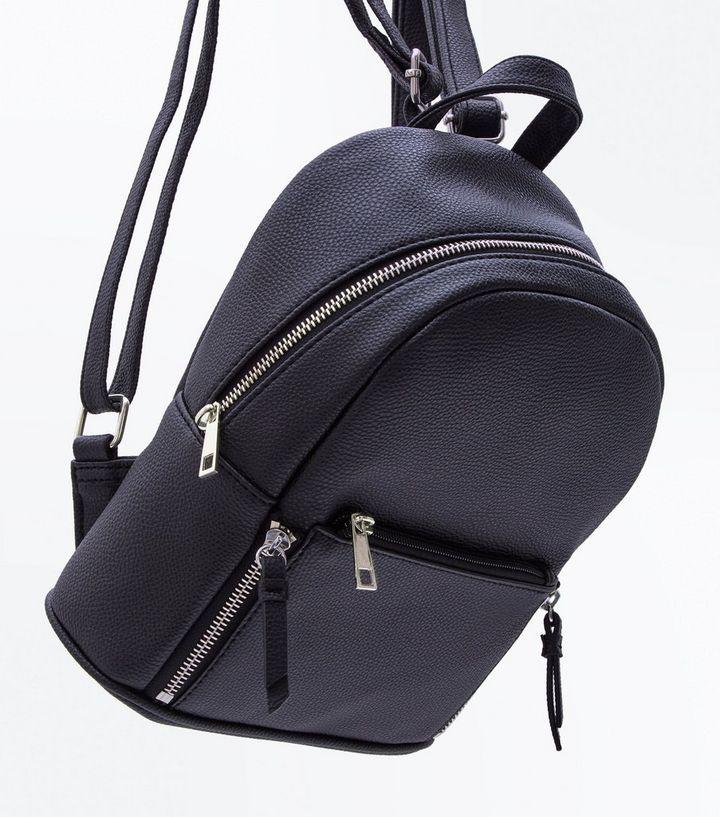 6eef143ddb ... Black Zip Top Curved Mini Backpack. ×. ×. ×. Shop the look