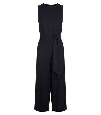 Cameo Rose Black Stripe Side Culotte Jumpsuit New Look